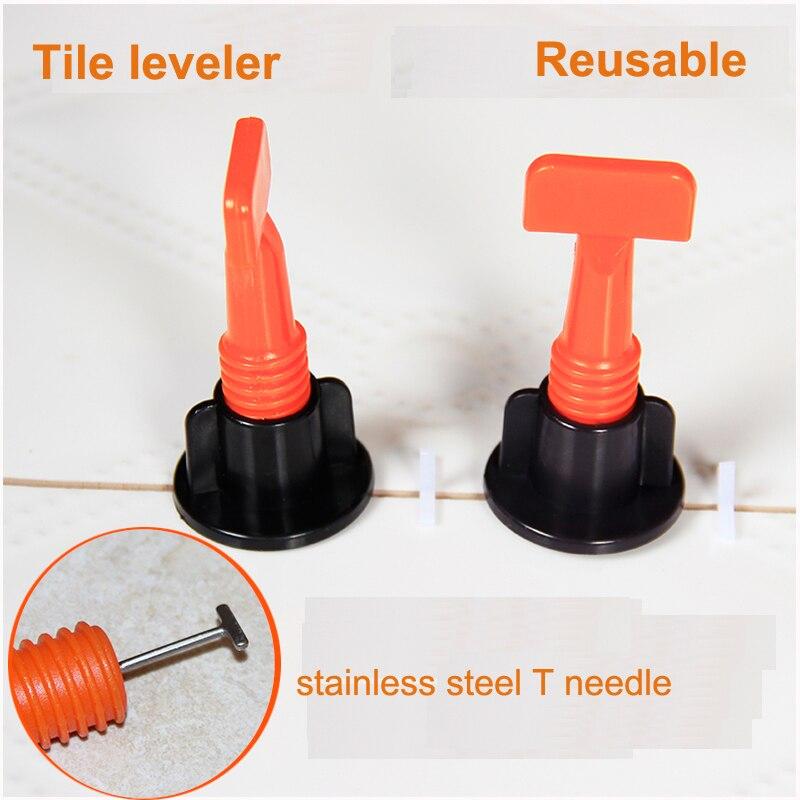 50pcs / Lot  Reusable Floor Wall Round Plastic Tile Leveling System Leveler Plastic Clip