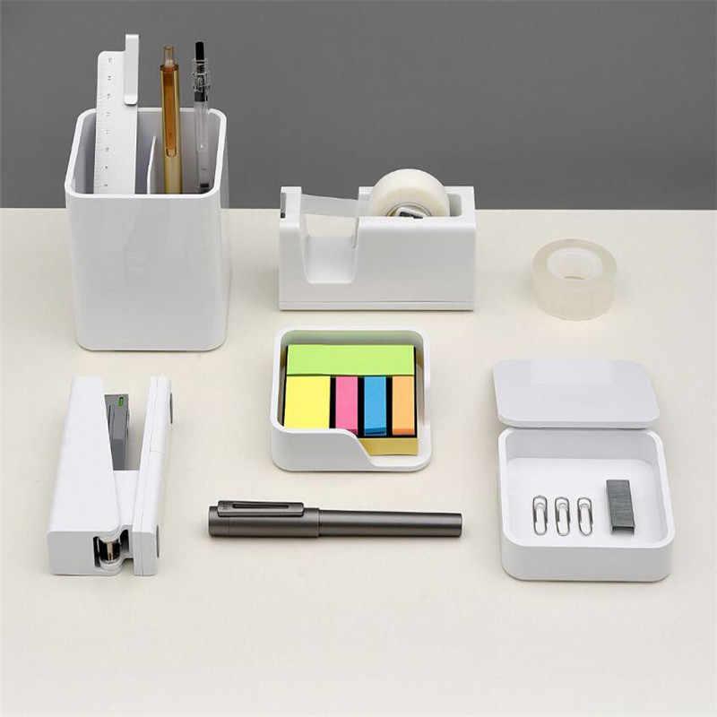 Xiaomi KACO LEMO Настольный ящик для хранения Коробка для хранения Примечание коробка продукт коробка 3 в 1 сборка бесплатная простой дизайн Работа для офиса fam