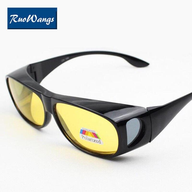 Eyewear Polarized Set of Glasses HD Vision Sunglasses Men women Myopia Night Driving Sunglass Over Wrap