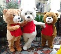 Лидер продаж костюм медведя взрослых Мех животных плюшевый мишка маскоты костюм
