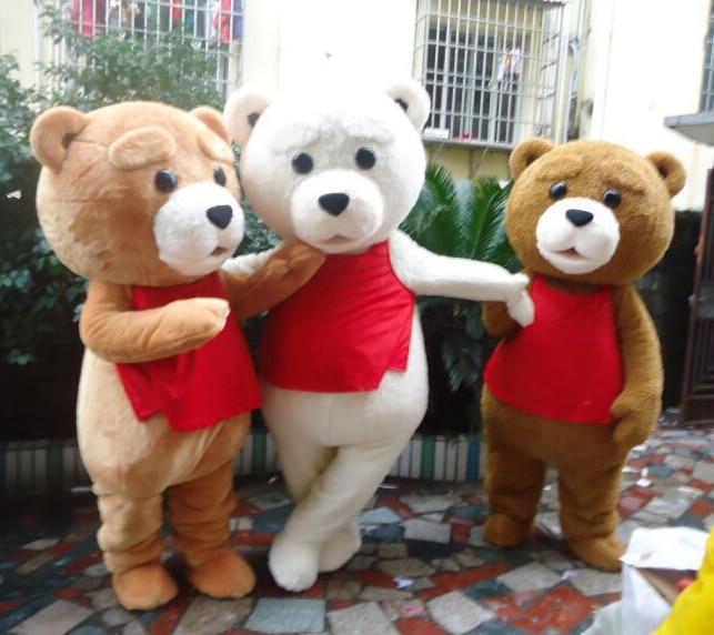 Vente chaude Tedy Costume Fourrure Adulte Mascotte D'ours en peluche