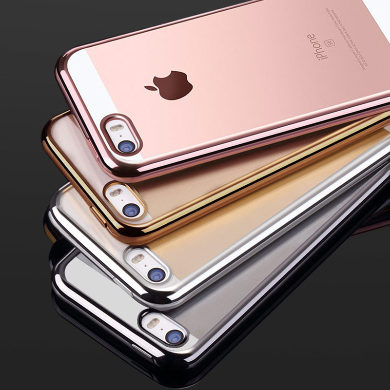 Clear TPU Silicone Case For iPhone 5 5S SE Phone Coque Fashion Transparent Ultra-thin Soft Back Cover For iPhone 5 S 5SE