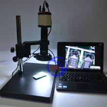 Cheapest prices FYSCOPE 2MP HD USB Digital Industry Video Microscope Camera Set  + Table Stand + 180X C-MOUNT Lens+ 144 LED Light