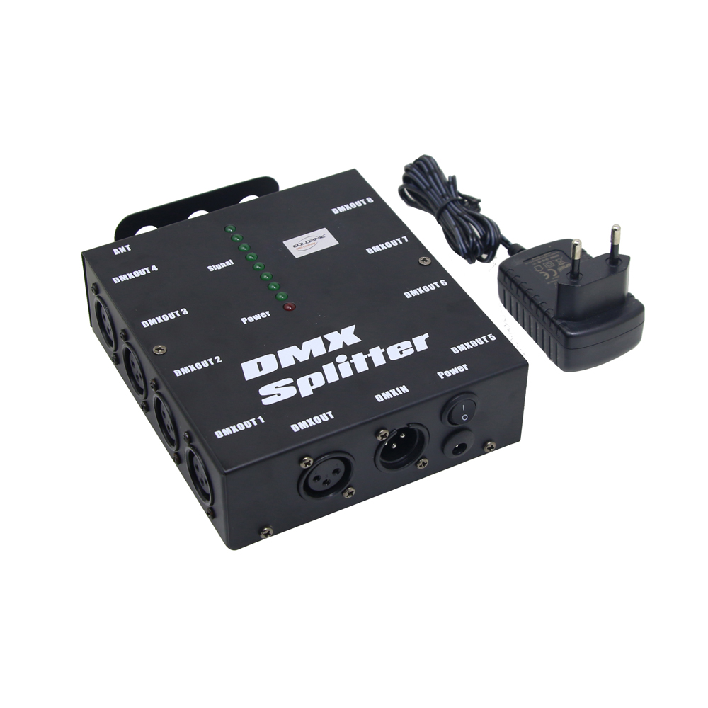 8 way dmx splitter distribution amplifier 8 channels dmx512 for