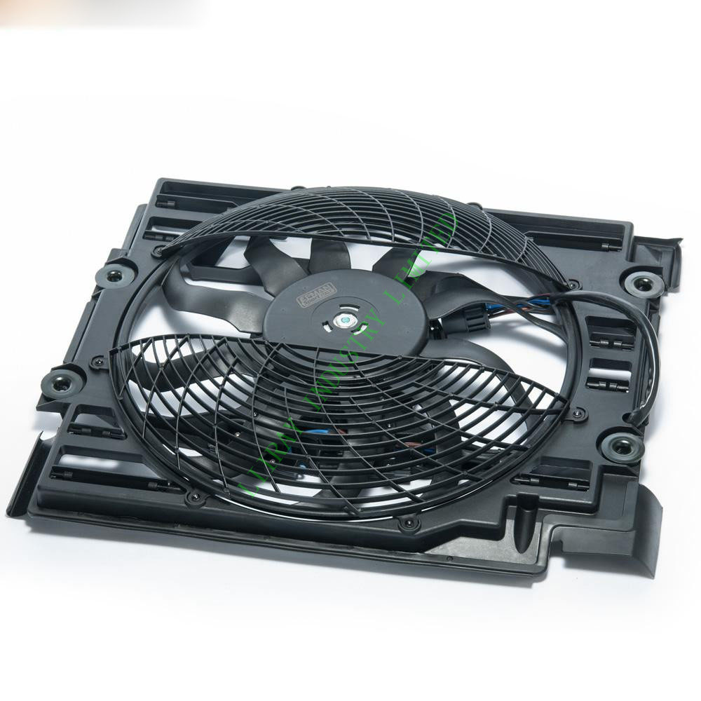 AC Condenser Cooling Fan Assembly For BMW E39 528i 540i M5 1995-1998