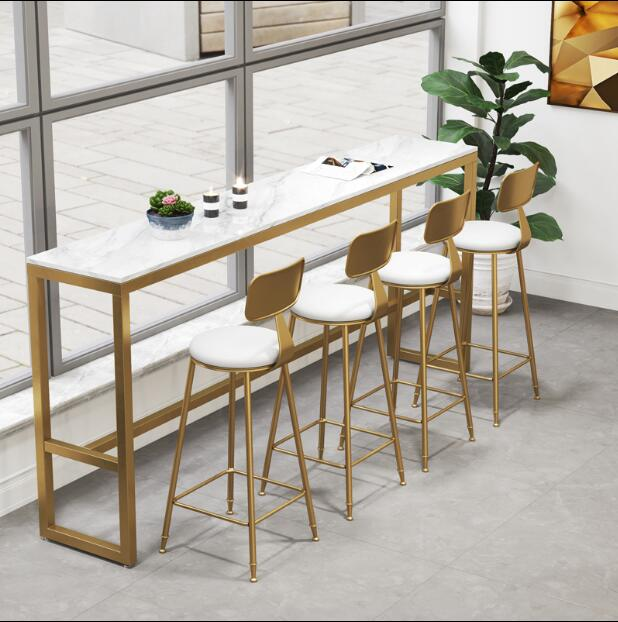 Nordic Simple Fashion Golden Iron Bar Chair High Stool