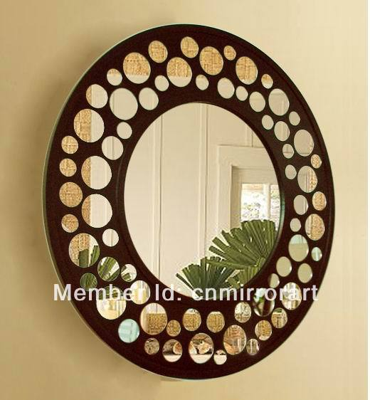 promotion wooden carved decorative wall mirror mainland