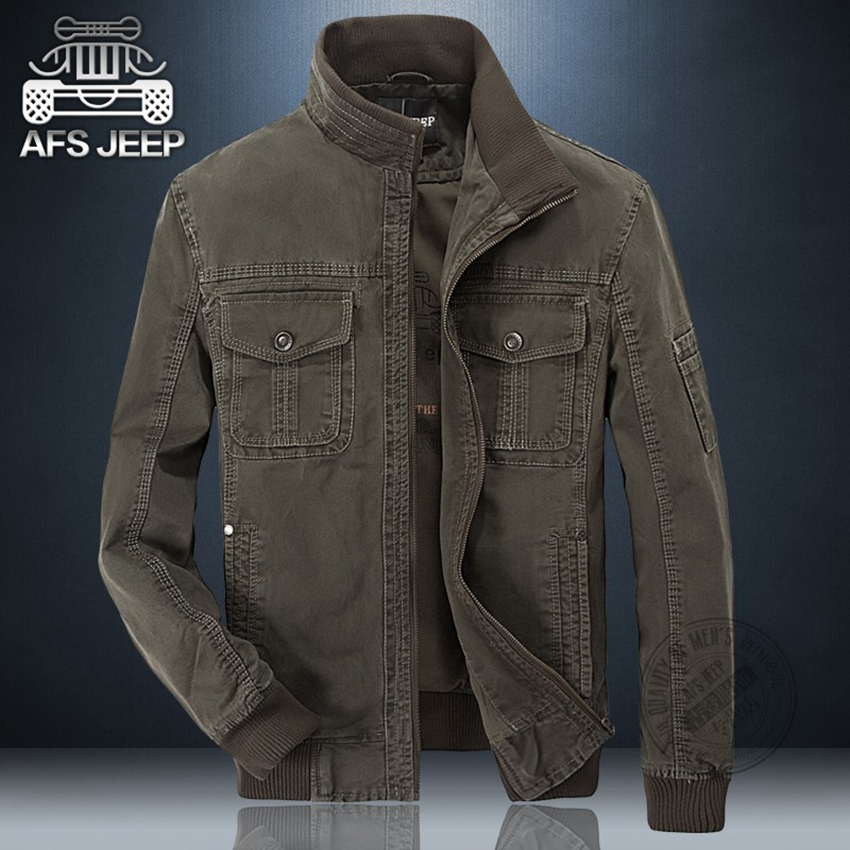 7abc218f754 AFS JEEP new Autumn Winter jacket men high quality cotton casual cargo coat  casaco jaqueta masculina fashion men jacket Z-in Jackets from Men's Clothing  on ...