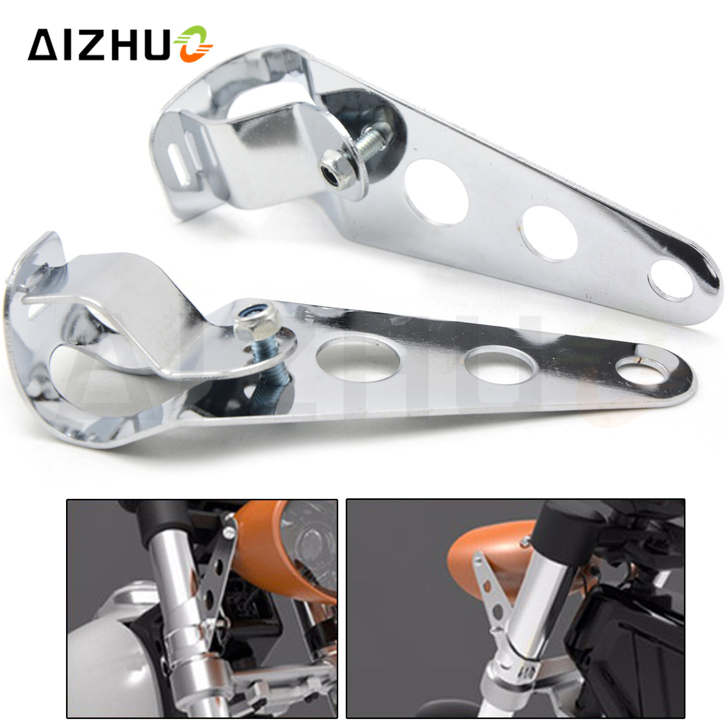 35mm-43mm Fork Motorcycle Accessories Headlight Bracket Cafe Racer Accessories For Yamaha R1 FZ6S MT07 MT09 Bmw R1200 GS S1000RR