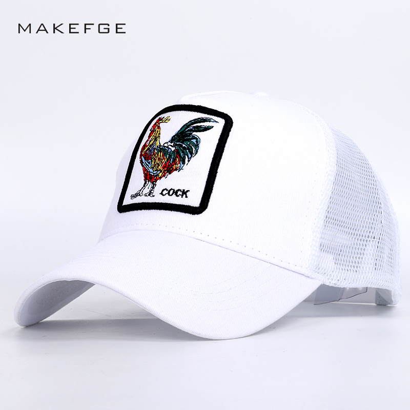2019 Fashion Cock Embroidery Mesh   Baseball     Caps   Summer High Quality hip hop hat Man Woman Sports Breathable Unisex Men's   Cap