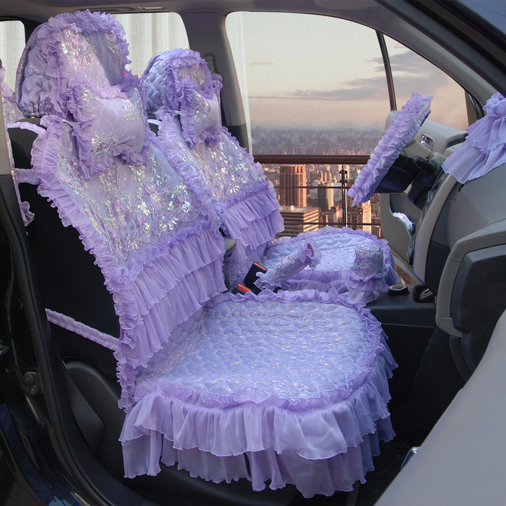 Woman S Girl S Cute Fashion Lace Cotton Purple Universal Car Seat Cover Set Car Seat Cover Set Seat Cover Setcar Seat Cover Aliexpress