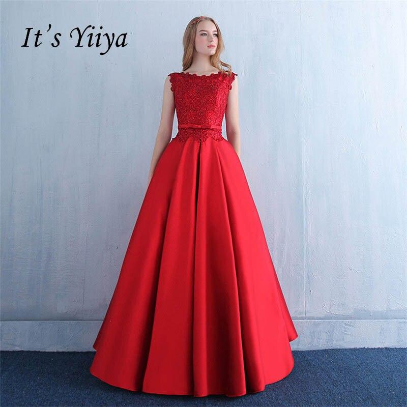 Это yiiya красный зашнуровать тафта бальное платье с бантом кружевное платье с цветочным рисунком вечернее платье длиной до пола Длина вечерн...