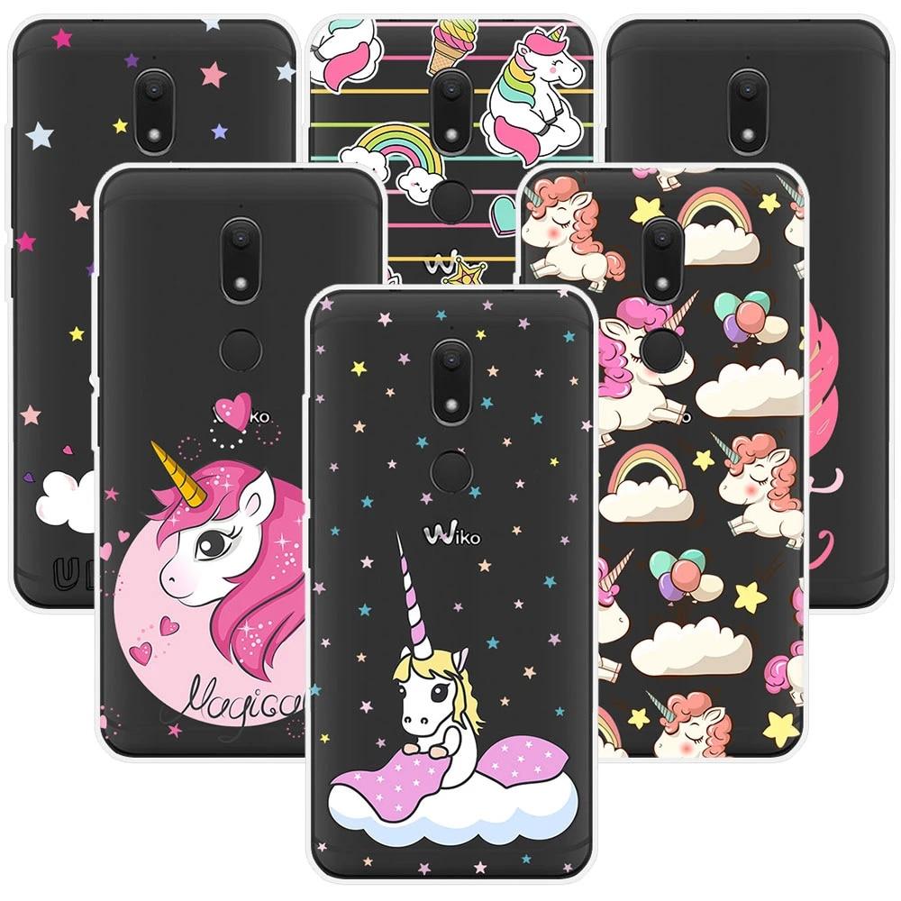 Unicorn Phone Case For Wiko View Lenny 4 Sunny 2 plus Jerry 2 Tommy 2 View xl prime U pulse lite Wim lite Cute Rainbow Horse