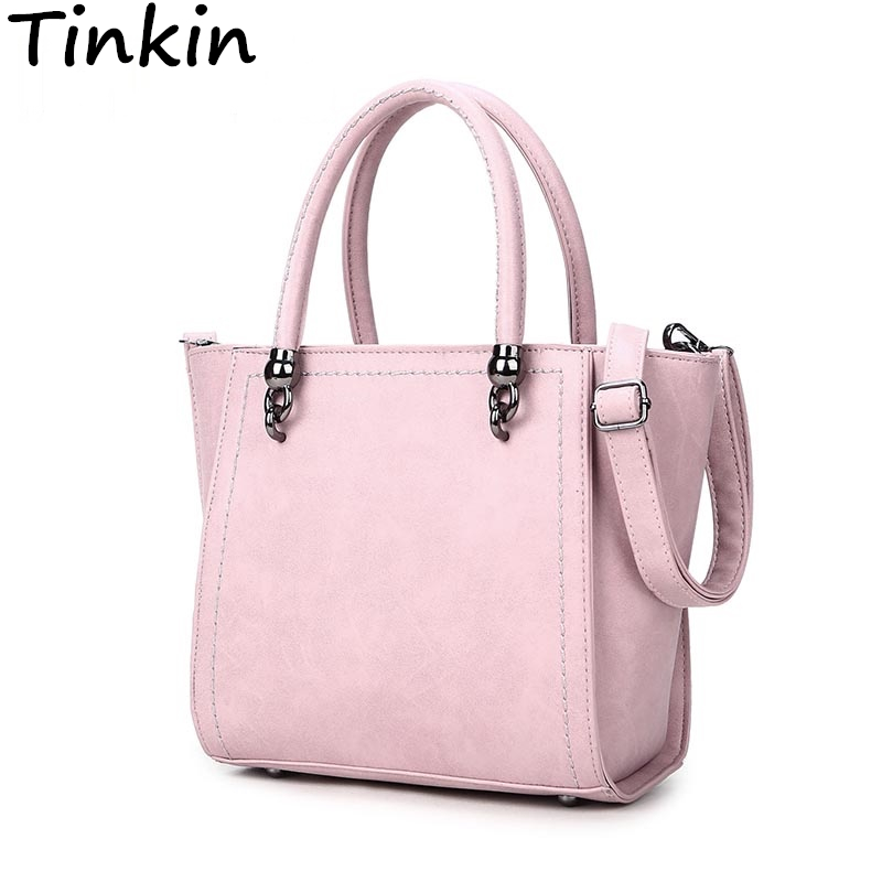 Tinkin Nubuck Leather Handbag Fashion Women Shoulder Bag High Quality Women Mess