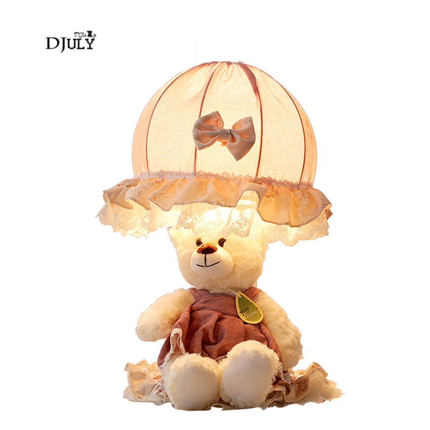 romantic bear fabric table lamp for Princess House Childrens room girl bedroom desk lamp study table light Valentines Day giftromantic bear fabric table lamp for Princess House Childrens room girl bedroom desk lamp study table light Valentines Day gift