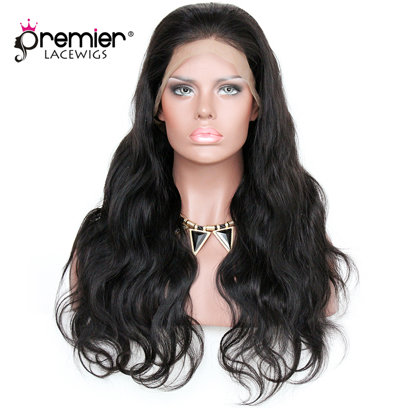 PREMIER LACE WIGS 360 Lace Wigs Body Wave Indian Remy Human Hair Lace Wigs,150% Thick Density,Pre Plucked Hairline [360LW03]