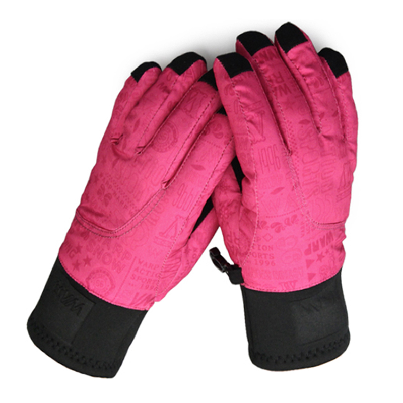 Kids Skiing Gloves Snowboard Gloves Winter Outdoor Sports Breathable Cotton Windproof Children Ski Gloves 6-14 Years Old