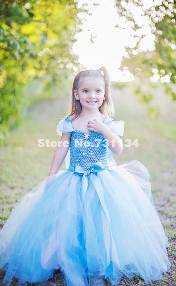 2015 new kids movie cinderella princess dress girls