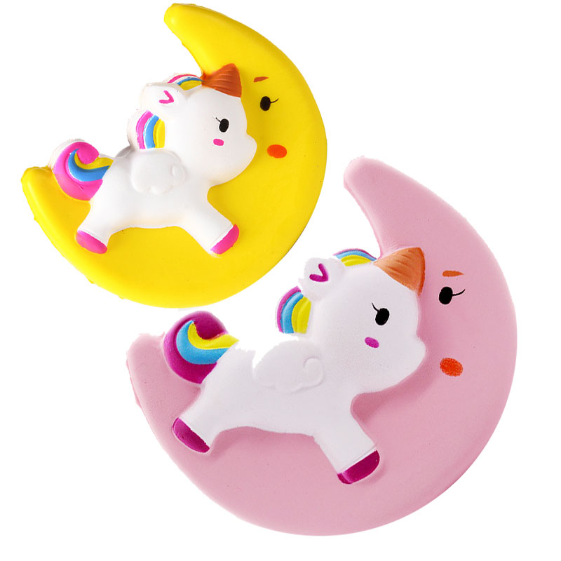 New Squishy Toy Simulation Moon Unicorn Shape Slow Rebound PU Decompression Toy Squishy Slow Rising Anti Stress Reliever Toy микроволновая печь свч bbk 20 mws 710 m w белый
