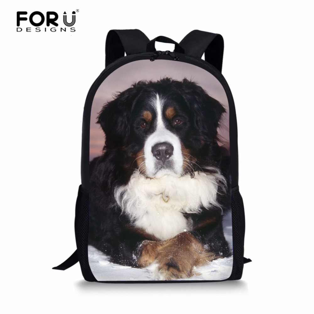 44eaf735562c FORUDESIGNS Bernese Mountain Dog Backpacks for Teenage Girls Female School  Shoulder Bag Bagpack mochila Student Schoolbag custom