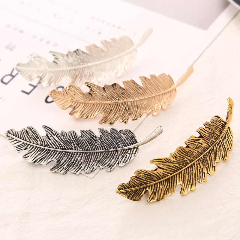 2019 Fashion 1PC Women Leaves Hair Clip Hairpin Barrette Bobby Pin Hair Styling Tools Ornament Hair Accessories Girl Headwear