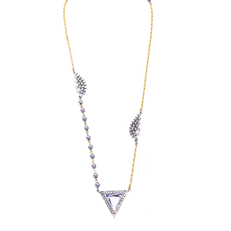 Kpop Perfume Women Triangle Wings Long Necklace Summer Party