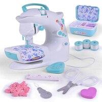 Miniature Electric Sewing Machine Kids dollhouse miniature realistic girls educational pretend toys