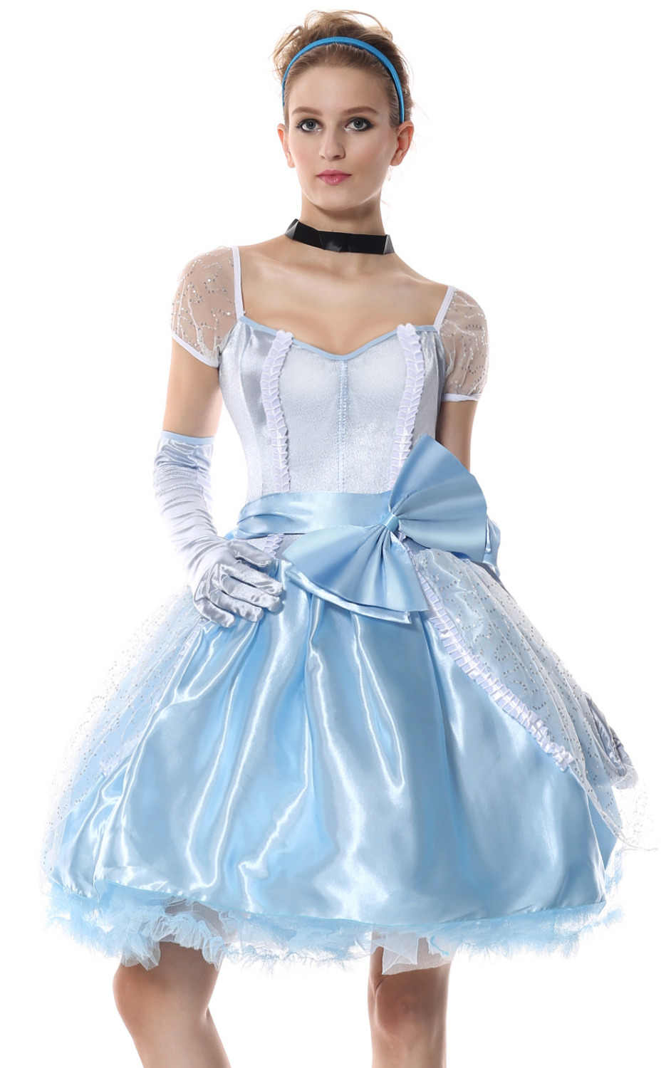 e82b14635a76f Halloween Adult Women Princess Cinderella Fancy Dress Costume Fairy Tale Princess  Costumes Plus Size M-