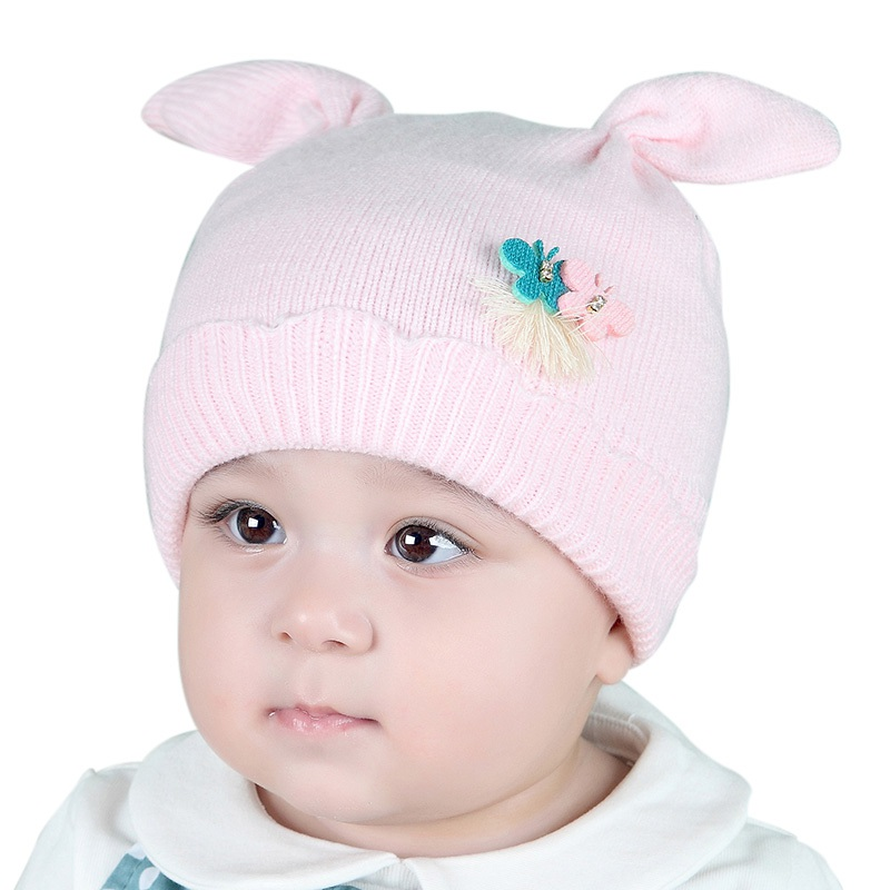 2017 Autumn Winter Baby Hat Toddler Baby Girls and Boys Knitted Hats Cotton Beanie Cap Kids Hats & Caps lovely toddler first walkers baby boys and girls cotton shoes soft bottom hook sneakers i love mom dad