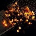 30 LEDs Honig Biene Form Solar Led String Fairy Lichter Nacht Licht Outdoor Garten Zaun Decor Sommer Terrasse Weihnachten Girlande-in Lichterketten aus Licht & Beleuchtung bei