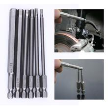 6 stücke 100mm 1/4 Zoll Magnetische Hexagon Schraubendreher-bits H2.5 H3 H4 H5 H6 H8 Bohrer Hex Schaft Elektrische screwdrier Werkzeug