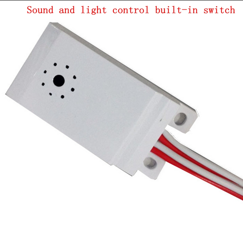 Installation of voice control module switch LED sound and light control built - in intelligent corridor delay sensor switch four high quality sound and light control switch delay 60s sensor switch 220v ac 50hz 60w 25w 5w 95db 75db free shipping