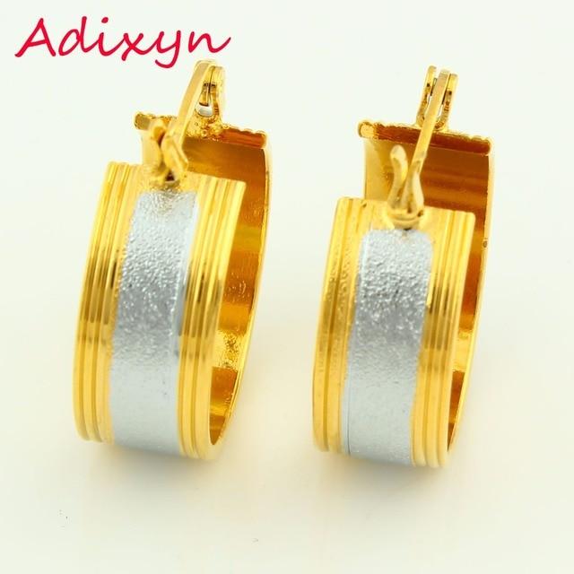 Two Tone Earrings For Women Gold Silver Plated Hoop Earring Jewelry African Eritrea