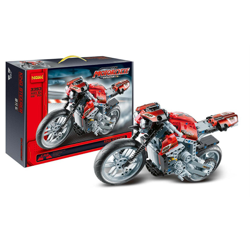 Decool 3353 Building Blocks Model Sets Tenic Motorbike Motorcycle Figure Bricks DIY Toys ...