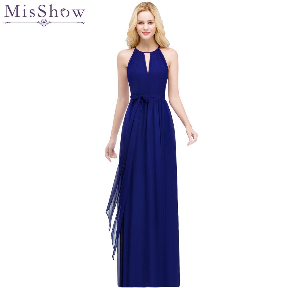 4877fb3b00296 Custom Made 34 Colors Halter Evening Dress with Sashes Long Simple Burgundy  Evening Gown Vestido De Festa Longo