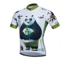 KongFu panda cycling jersey mens funny summer Short sleeve quick dry clothing MTB Ropa Ciclismo Bicycle maillot only