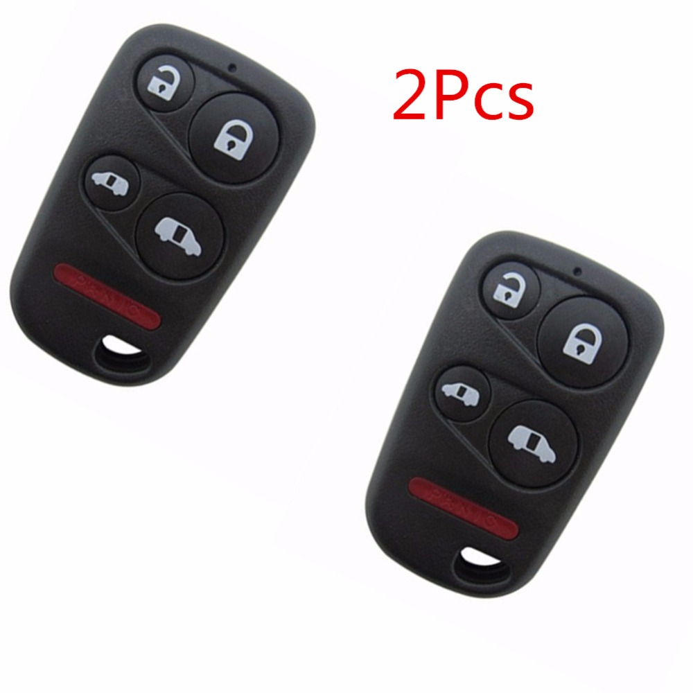 2pcs keyless remote 5 buttons smart key fob shell case for 2001 2002 2003 2004 honda