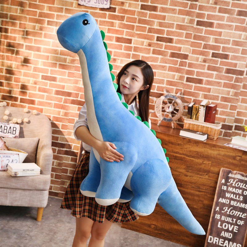 все цены на 1pc 35/60cm Cartoon Cute dinosaur Long neck Plush Toy soft animal Stuffed doll High quality Kawaii christmas gift for children