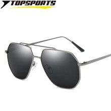 TOPSPORTS Outdoor polarized Sunglasses mirror coating UV400 driving Glasses Aluminum alloy men women eye protective C08