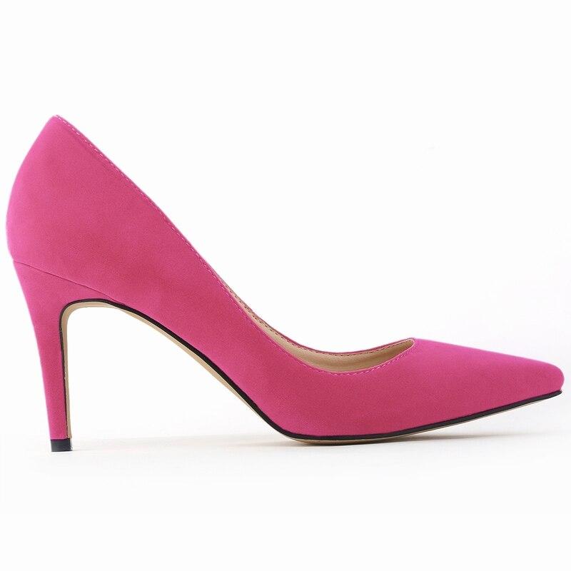 LOSLANDIFENClassic Sexy Spitz Mitte High Heels Damen Pumps Schuhe - Damenschuhe - Foto 6
