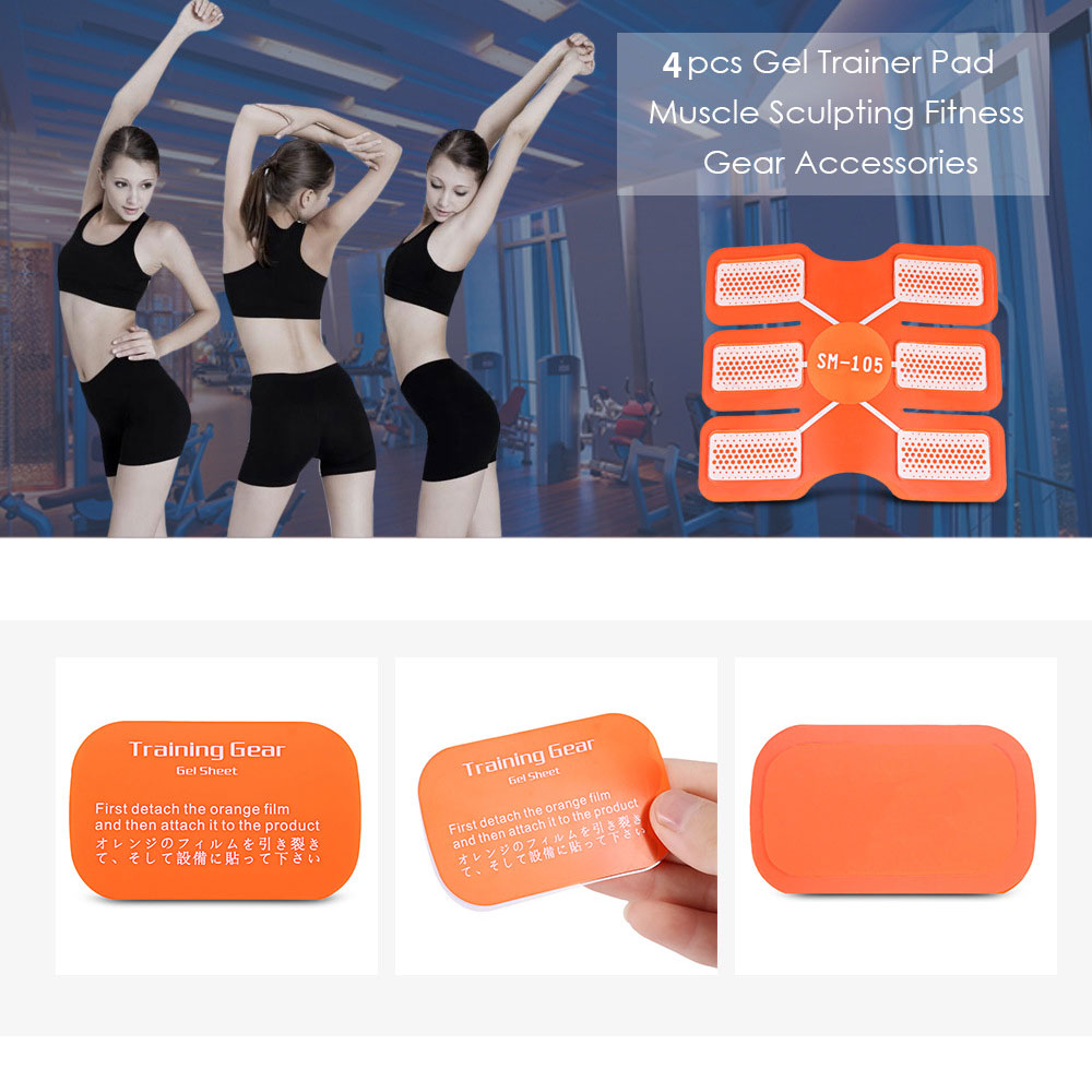 Muscle Sheet Professional Accessories 4Pcs Paster Abdominal Gel Part Pad Sticker Exercise Silicone Body Durable Gear