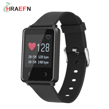 2017 Смарт-группы TK002 Heart Rate monitor Фитнес tracker Браслет спорт Бег Шаг Шагомер часы для IOS Android смартфон