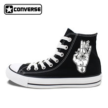 7388122dc460 High Top Canvas Sneakers White Black Converse Original Design Palm Eyes  Smoke Special Skateboarding Shoes for
