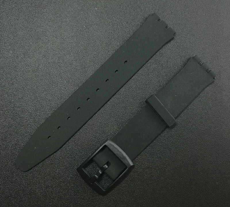 Watchband for Swatch strap skin Ultra-thin series SFK silicone rubber 16 mm watch strap band accessories for SFK360 SFK361