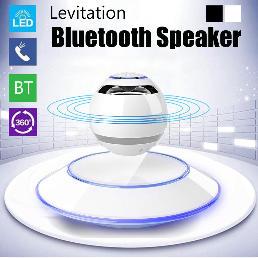 Magnetic Suspension Levitation Bluetooth Speaker Wireless Stereo Music Loudspeakers Super Bass Hands-free Sound Loudspeakers a9 mini wireless bluetooth speaker w led hands free tf usb subwoofer loudspeakers portable 3 5mm mp3 stereo audio music player