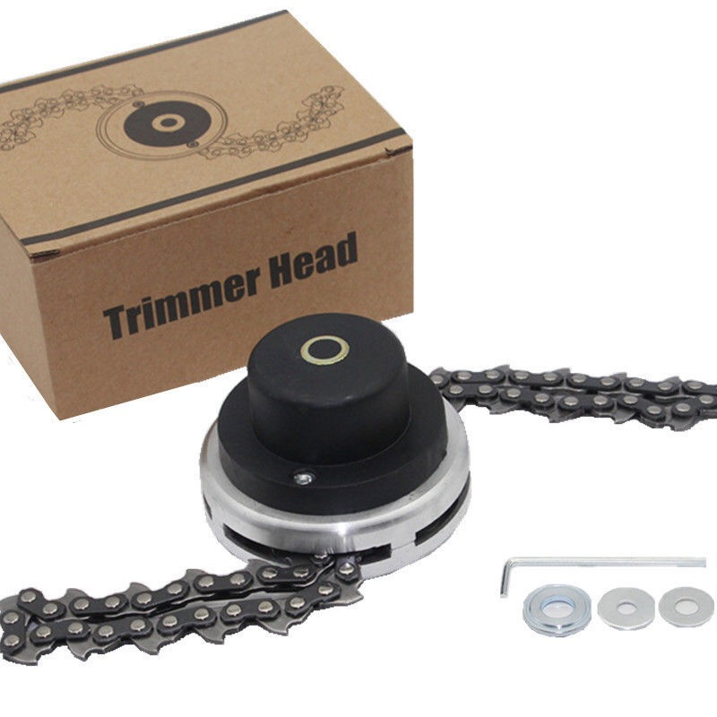 Universal Trimmer Head Coil Chain Brush Cutter Garden Grass Trimmer Head Upgraded With Thickening Chain For Lawn Mower(China)