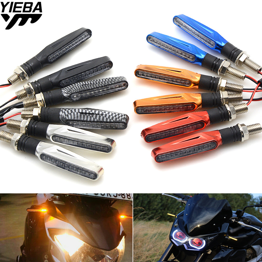 Universal 12V LED Motorcycle Turn Signal Indicators Light font b Lamp b font FOR Kawasaki Z800