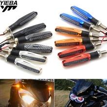 Универсальный 12 В светодио дный мотоциклетные поворотов Индикаторы свет лампы для Kawasaki Z800 z250 CBR1000XX CBR954RR NC700 VTX1300 MT07 MT09