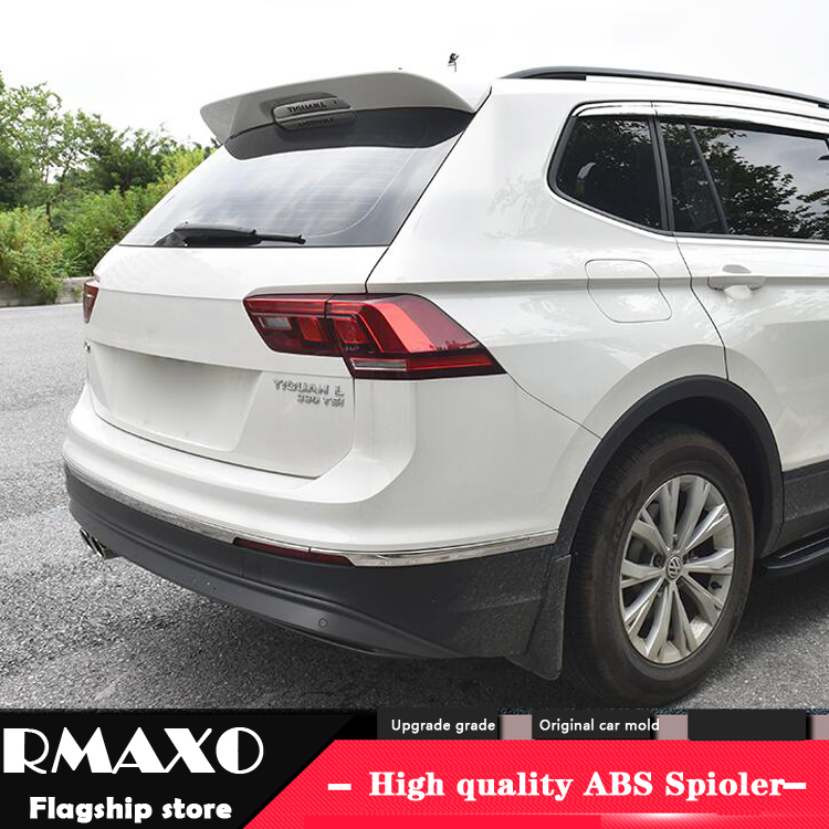 For Volkswagen Tiguan L Spoiler 2017-2018 Tiguan L High Quality  ABS Material Car Rear Wing Primer Color Rear Spoiler