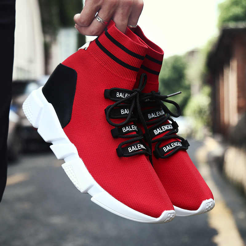 Men Sneakers 2019 Autumn Breathable Mesh Casual Shoes Men Comfortable Couple Walking Footwear High Top Sneakers Zapatillas Mujer